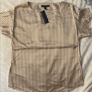 🆕Gold/White Striped Banana Republic Short Sleeve